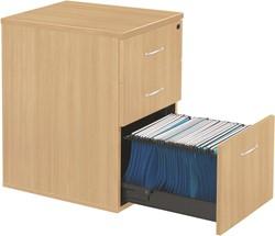 Ladeblokken op bureauhoogte 3 laden D. 60 cm - licht eiken