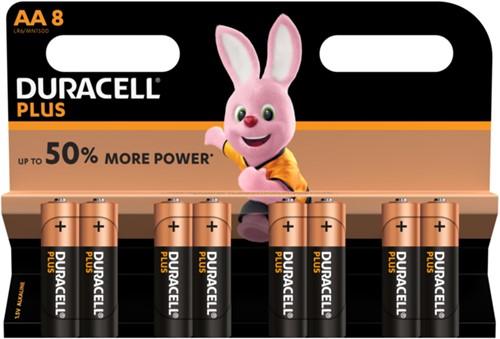Batterij Duracell Plus Power 8xAA alkaline