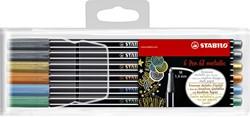 Viltstift Stabilo 6806/8-11 Metallic assorti etui à 6 stuks