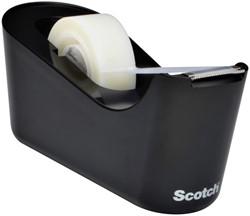 Plakbandhouder Scotch C18 zwart + 1rol magic tape 19mmx33m