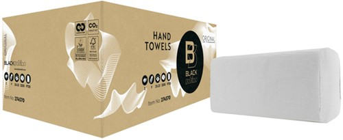 Handdoek BlackSatino Original 25x23cm 2-laags zigzag 3200st