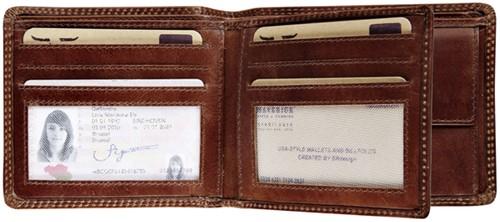 Portemonnee Maverick Dalian RFID leer bruin-2