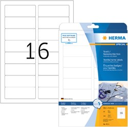 Naambadge etiket Herma 4515 88.9x33.8mm wit