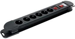 Tafelcontactdoos 6voudig beveiligd voor België 150cm