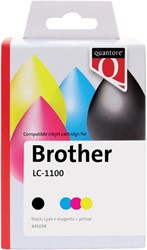 Inkcartridge Quantore Brother LC-1100 zwart + 3 kleuren