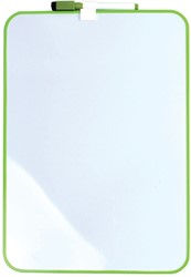 Whiteboard Desq 24x34cm + marker groen profiel