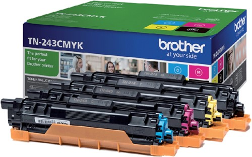 Tonercartridge Brother TN-243 zwart + 3 kleuren