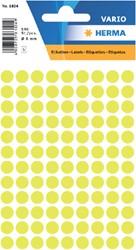 Etiket Herma 1834 rond 8mm geel 540stuks