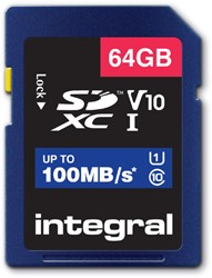 Geheugenkaart Integral SDXC V10 64GB