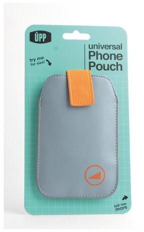 HOES POUCH UPP PHONE GRIJS/ORANJE 1STUK