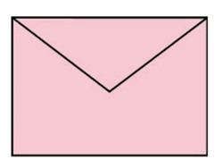 Envelop C6 baby roze
