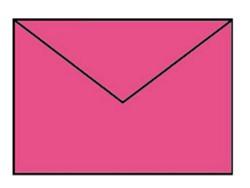 Envelop C6 fuchsia roze