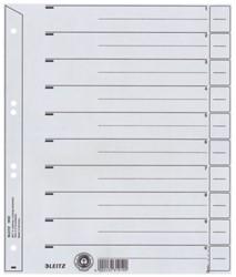Scheidingsbladen Leitz 1650 A4 karton 200gr 4-gaats grijs