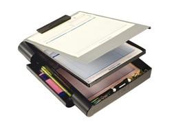 Klembordkoffer Oic 83357 met opbergruimte grijs/zwart