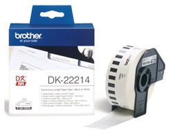 Etiket Brother DK-22214 12mm thermisch 30-meter wit papier