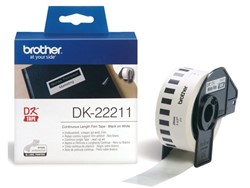 Etiket Brother DK-22211 29mm 15-meter witte film
