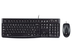 Toetsenbord Logitech K120 Qwerty +muis zwart