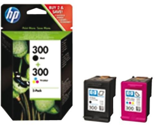 Inkcartridge HP CN637EE 300 zwart + kleur-2