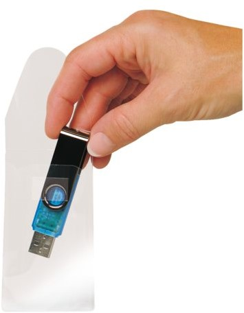 USB hoes 3L 52.5x90mm met sluiting zelfklevend transparant