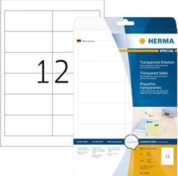 Etiket Herma 4682 96.5x42.3Mm transparant 300stuks