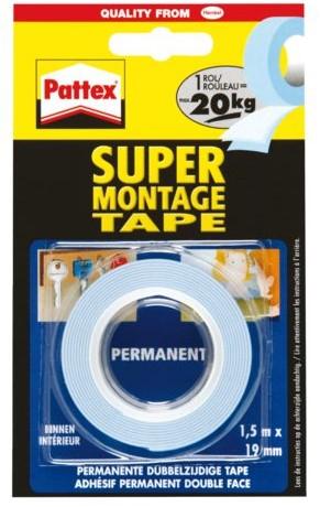 Plakband Pattex Supermontage 20kg binnen
