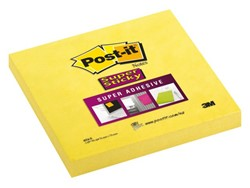 Memoblok 3M Post-it 654-S Super Sticky 76x76mm ultra geel