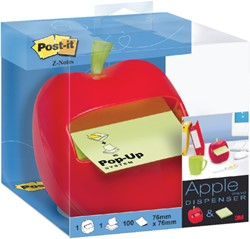 Memoblokdispenser 3M Post-it Z-Notes 76x76mm appel groen