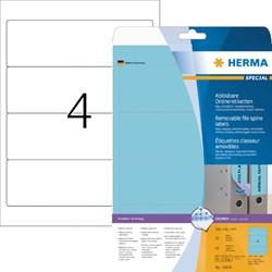 Rugetiket Herma breed 61x192mm verwijderbaar blauw