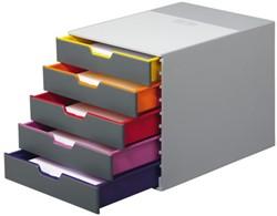 Ladenbox Durable Varicolor 5 laden grijs