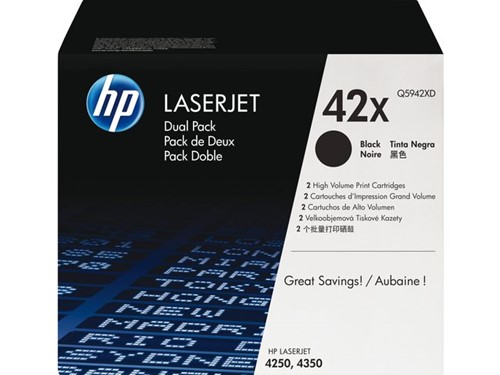 Tonercartridge HP Q5942XD 42X zwart 2x HC