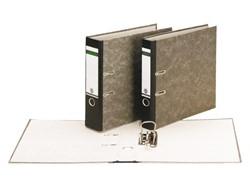 Ordner Leitz 1082 Folio 80mm karton gewolkt zwart
