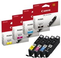 Inkcartridge Canon CLI-551 geel-2