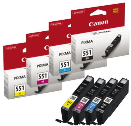 Inkcartridge Canon CLI-551 blauw-2