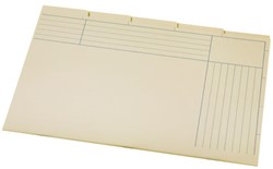 Binnenmap A6200-5 folio 345x232mm 5DLG karton chamois