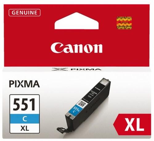 Inkcartridge Canon CLI-551XL blauw HC