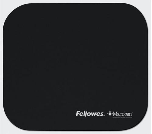 Muismat Fellowes microban antibacterieel zwart