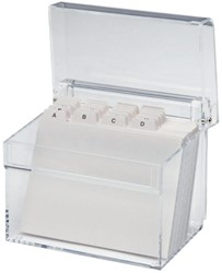 Kaartenbak Maul A7 + index acryl glashelder