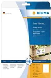 Etiket Herma 10911 210x297mm A4 extra sterk wit 25stuks