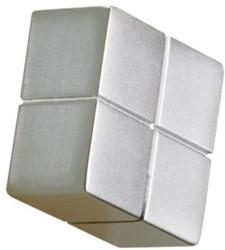 Glasbordmagneet Sigel Artverum 20x20x10mm zilver 1stuks