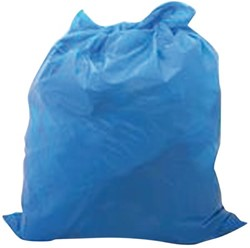 Vuilniszak HDPE 70x110cm 110liter blauw 500stuks
