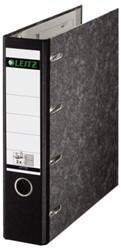 Ordner Bank Leitz 1092 A4 75mm 2 mechanieken karton zwart