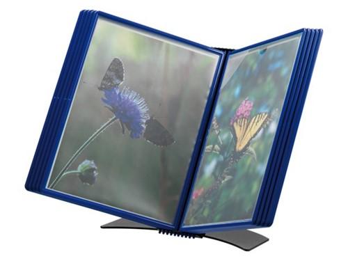 Bureaustandaard Flex-O-Frame met 10-tassen blauw