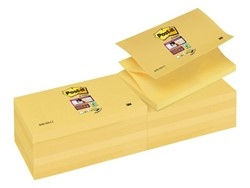 Memoblok 3M Post-it Z-Note S350-Y 76x127mm Super Sticky geel