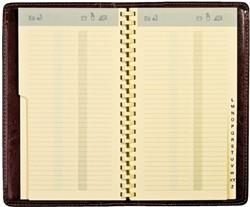 Adresboek Notaphone Palermo spiraal zwart