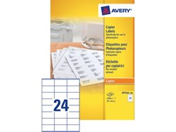 Etiket Avery DP246-100 70x36mm kopieren 2400stuks