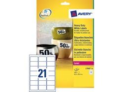 Etiket Avery L7060-20 63.5x38.1mm polyester wit 420stuks