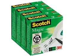 Onzichtbaar plakband Scotch Magic 810 19mmx33m 4 rollen