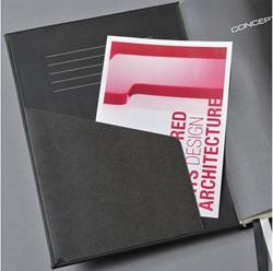 Notitieboek Conceptum CO162 A5 zwart lijn