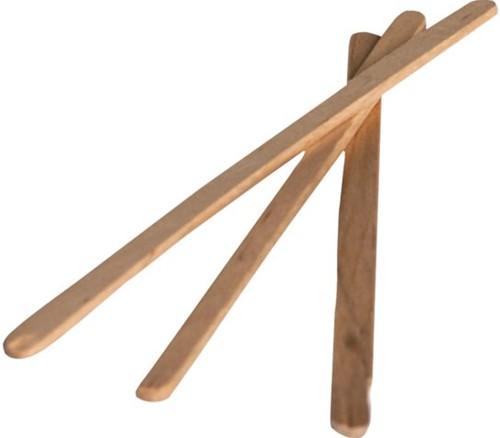 Roerstaafje hout 14cm 10.000 stuks
