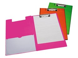 Klemmap LPC A4/Folio met 100mm klem + penlus neon oranje